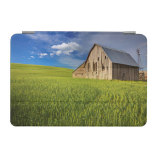 Old Barn in Field of Spring Wheat iPad Mini Cover