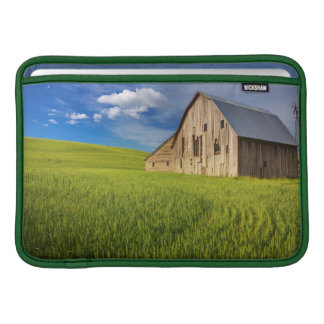 Old Barn in Field of Spring Wheat Sleeve For MacBook Air