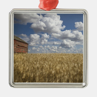 Old Barn in Wheat Field 2 Christmas Ornament