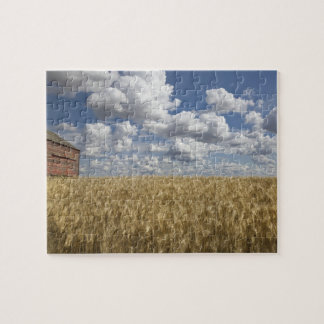 Old Barn in Wheat Field 2 Jigsaw Puzzle