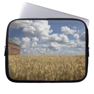 Old Barn in Wheat Field 2 Laptop Sleeve