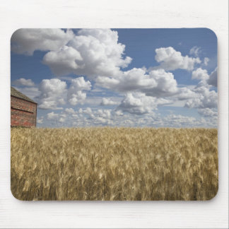 Old Barn in Wheat Field 2 Mouse Mat
