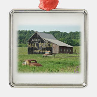 Old Barn Mail Pouch Tobacco Advertising Christmas Ornament