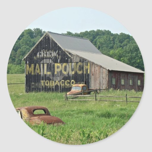 Old Barn Mail Pouch Tobacco Advertising Sticker