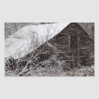 Old barn rectangular sticker