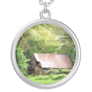 OLD BARN SILVER PLATED NECKLACE