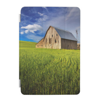 Old Barn Surrounded by Spring Wheat Field 1 iPad Mini Cover