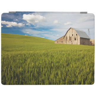 Old Barn Surrounded by Spring Wheat Field 2 iPad Cover