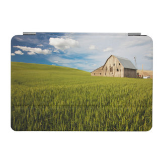 Old Barn Surrounded by Spring Wheat Field 2 iPad Mini Cover