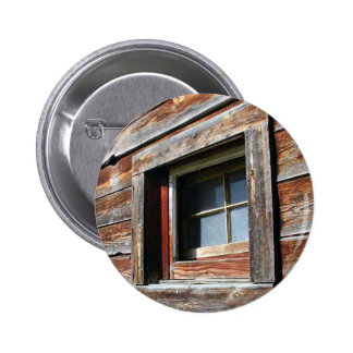 Old Barn Window 6 Cm Round Badge