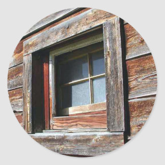 Old Barn Window Classic Round Sticker