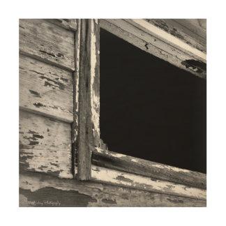Old Barn Window Rustic Art Wood Print