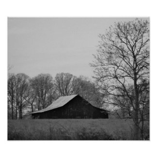 Old Barns Of Kentucky I Poster