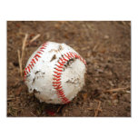old baseball 4.25x5.5 paper invitation card