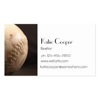 Old Baseball Business Card Templates