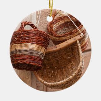 old basket christmas ornament