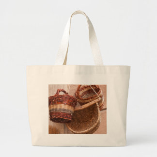 old basket large tote bag