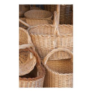 old basketold basket stationery