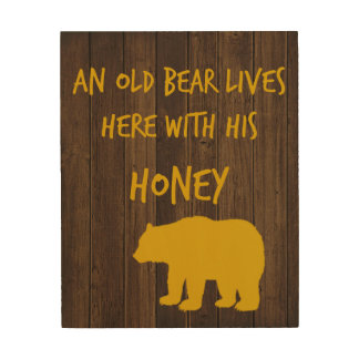 Old Bear Wood Wall Decor