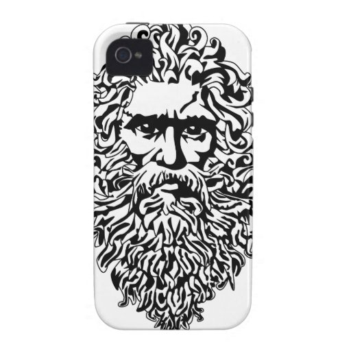 Old Bearded Man Design Vibe iPhone 4 Case