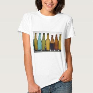 Old beer bottles tee shirt