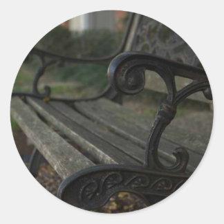 Old Bench Classic Round Sticker
