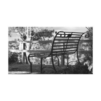 Old Bench, Inverewe Garden Gallery Wrapped Canvas
