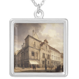 Old Berlin City Hall, 1867 Silver Plated Necklace