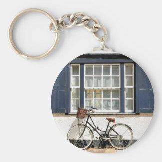 Old bike basic round button key ring