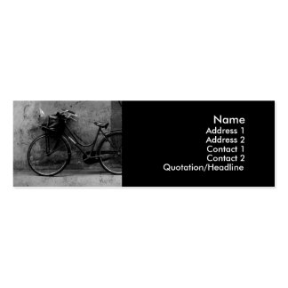 Old Bike Profile Cards Pack Of Skinny Business Cards
