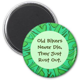 old biker humor 6 cm round magnet
