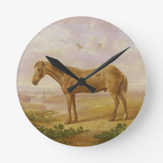 Old Billy, a Draught Horse, Aged 62 (oil on panel) Round Clock