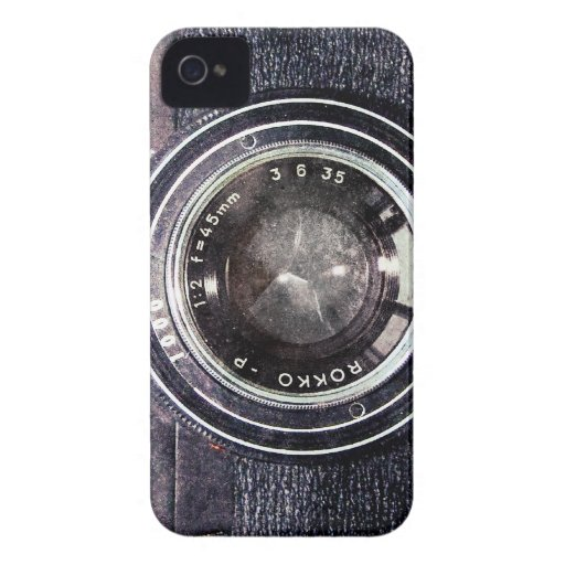 Old black camera Case-Mate iPhone 4 cases