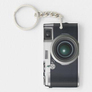 Old black camera key ring
