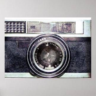 Old black camera print