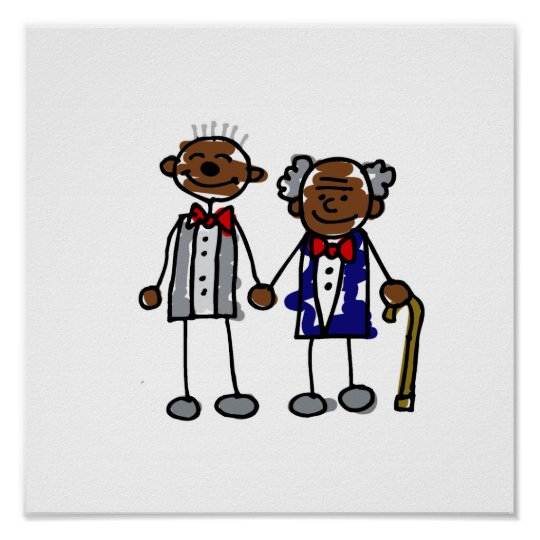 Old Black Gay Couple Poster
