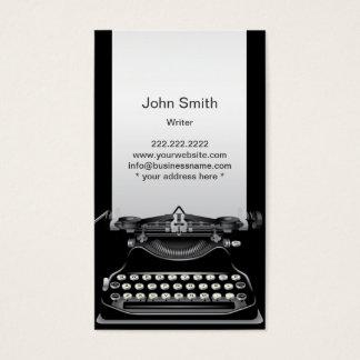 Old Black Typewriter Writer Business Card