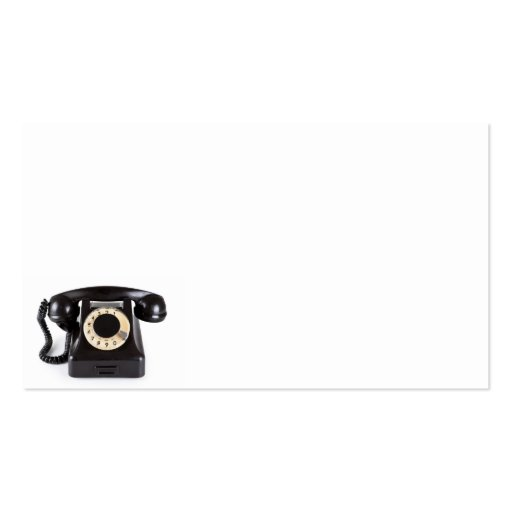 Old Black Vintage Telephone With Rotary Dial 1 Business Card
