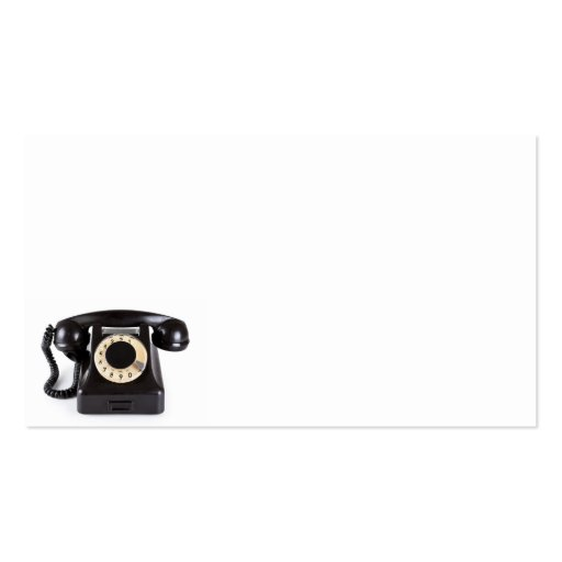 Old Black Vintage Telephone With Rotary Dial 1 Business Card Template