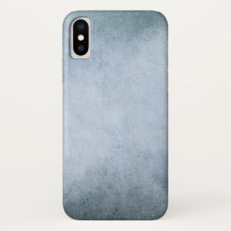 Old Blue & Black Watercolor Paper | Add Photo iPhone X Case