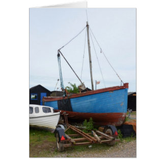 Old Blue Fishing Smack Greeting Card
