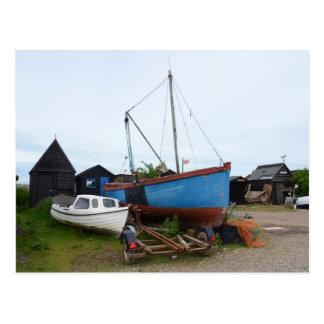 Old Blue Fishing Smack Postcard