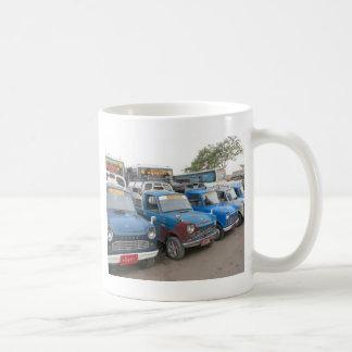 Old Blue Mazdas Taxis Basic White Mug