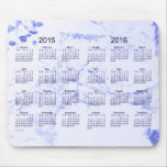 Old Blue Paint 2015-2016 2 Year Calendar Mouse Pad