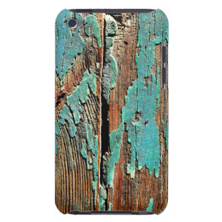 Old blue paint on wood Case-Mate iPod touch case