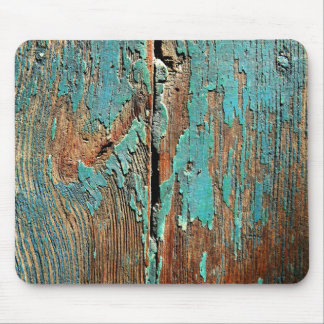 Old blue paint on wood mouse pad