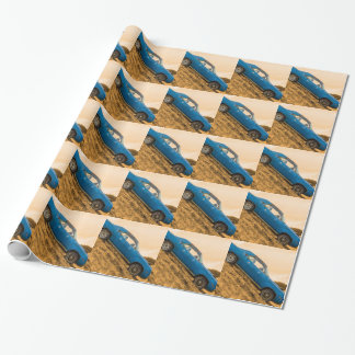 Old Blue Plymouth Barracuda Wrapping Paper