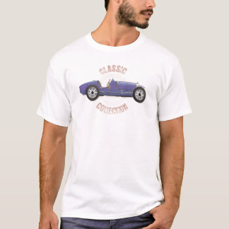 Old blue vintage racing car used on the track T-Shirt