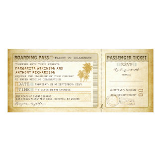 old boarding pass wedding tickets-invites & rsvp