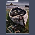 Old boat, Lindisfarne, Northumberland Card